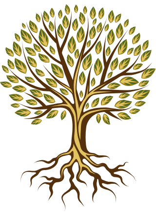 Graphic of tree representing lawn and landscape services